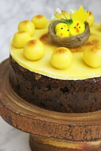 Traditional Simnel Cake topped with 11 marzipan balls from Supper in the Suburbs